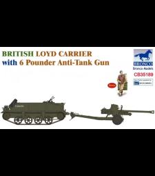 1:35 British Loyd Carrier with 6 Poundener Anti-Tank Gun
