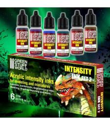 Paint Set - Intensity Ink Acrylic paints - SET 2 (6 x 17 ml)