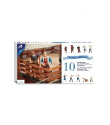 1:65 Set of 10 Metal Figurines for Caravels and Galleons