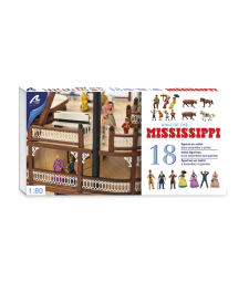1:80 Set of 18 Metal Figurines: King of the Mississippi