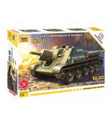 1:72 SU-122 SOVIET TANK DESTROYER -snap-fit