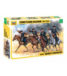 1:35 SOVIET COSSACKS W/ HORSES, WWII 4 figures