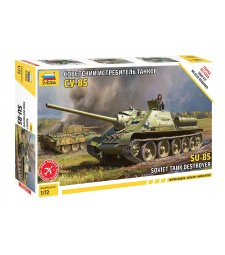 1:72 SU-85 SELF PROPELLED GUN - snap-fit