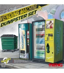 1:35 VENDING MACHINE & DUSTBIN SET