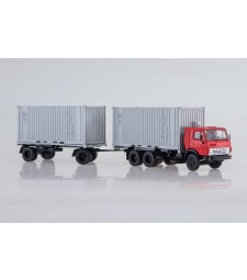 KAMAZ-53212 container truck with container trailer GBK-8350 /red-white/