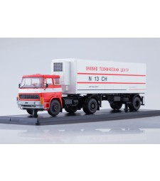 LIAZ-100.471 tractor truck with refrigerated semitrailer ALKA N13CH