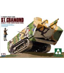 1:35 French Heavy Tank St.Chamond Early Type/Iron Mask