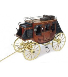 1:10 STAGE COACH 1848  - Wooden model kit