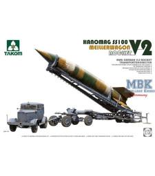 1:72 WWII German V-2 Rocket Transporter/Erector Meillerwagen+Hanomag SS100