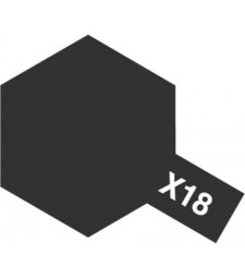 X-18 Semi Gloss Black - Acrylic Paint (Gloss) 23 ml