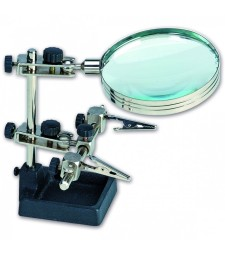 Articulated arm with Magnifying glass (90 mm)