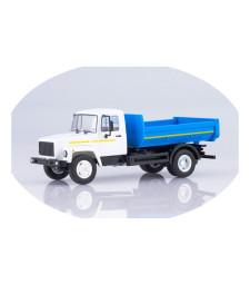 GAZ-35072 dump truck /white-blue/