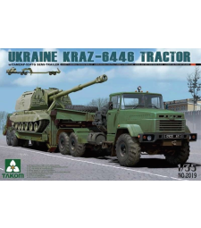 1:35 Ukraine KrAZ-6446 Tractor With ChMZAP-5247G  Semi-trailer