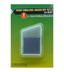 Twist Drilling Auger Bit set (#2 1.0-1.7 mm)