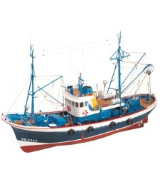 1:50 Marina II Diesel Boat- Wooden Model Ship Kit