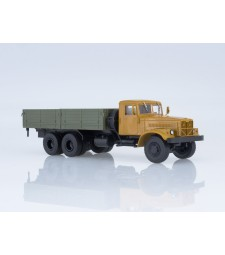 KRAZ-257B1 flatbed truck - orange-grey