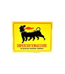 Metal plate SUPERCORTEMAGGIORE cm. 34 x 26 x 0.2 H The powerful Italian petrol