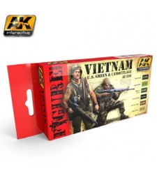 AK3200 VIETNAM U.S. GREEN & CAMOUFLAGE - Figures Series Set (6 x 17 ml)