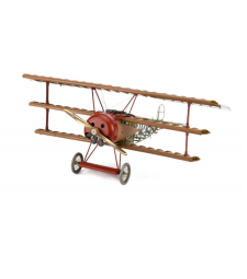 1:16 Fokker DR.I 1918 Red Baron - Wooden Plane Model Kit