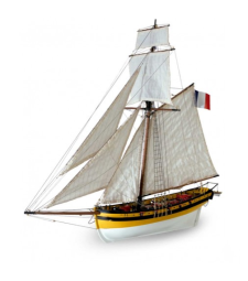 1:50 Le Renar - The Fox - Wooden Model Ship Kit
