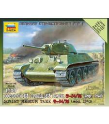1:100 Soviet Medium Tank T-34 Model 76