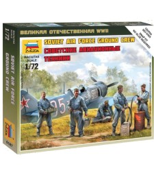 1:72 Soviet airforce ground crew - 5 figures